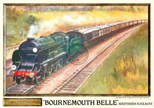 Southern Railways 'Bournemouth Belle' Vintage Steam Train Poster